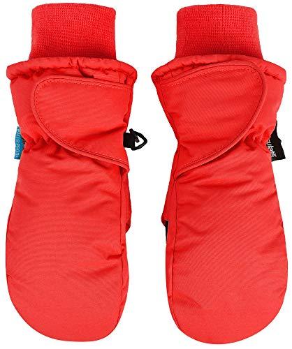 SimpliKids Boys Snow Sports Thinsulate Insulation Waterproof Winter Ski Mittens,S,Red