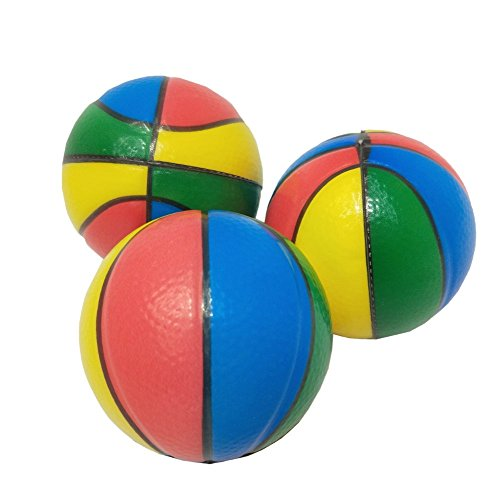 Mydio 24 Pack 4-colors basketball Stress squeeze balls Bulk Stress Relief Fun Toys Halloween Christmas Stocking Stuffer-assorted color 2.5 inch by Mydio