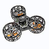 Tiny Toy Drone Flying Fidget Spinner Stress Relief Gift Flying Gyroscop Toy (Black)