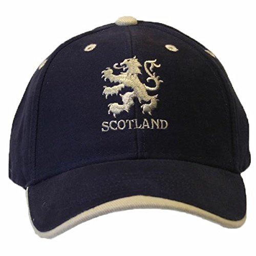 - Scotland Lion Logo Embroidered Baseball Cap (One Size) (Navy/White)