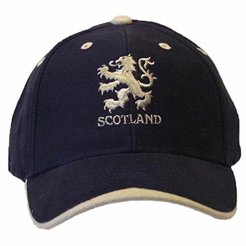 (Scotland Lion Logo Embroidered Baseball Cap (One Size) (Navy/White))