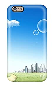 Iphone 6 Case Cover - Slim Fit Tpu Protector Shock Absorbent Case (blue Sky City) by supermalls