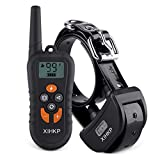 Training Dog Collar - XLHLKP Dog Training Collar with Remote 500 Yards Rechargeable Dog Shock Collar 4 Modes Night Night Beep Vibration Shock Waterproof Electronic Dog Training Collar for Large Medium Small Dogs