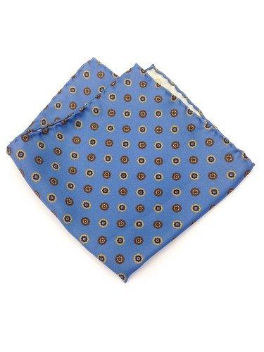 Real Luxury Napoli - Pañuelo de Bolsillo Seda azul celeste con ...