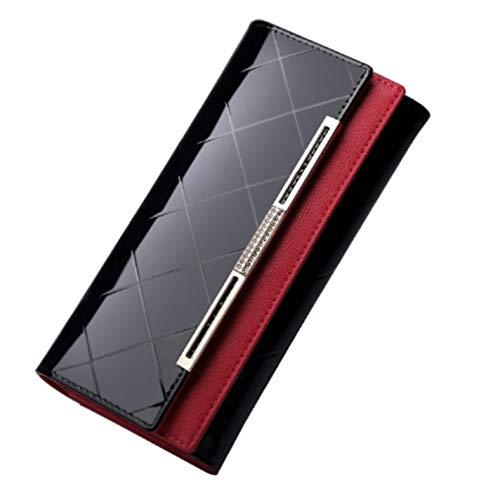 Women Patent Leather Wallet Long Coin Purse Elegant Wallet