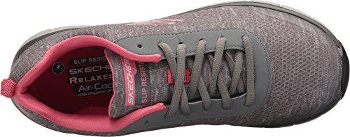 Skechers Womens Comfort Flex Sr Hc Pro Calzature Professionali Per La Cura Della Salute Grigio / Rosa