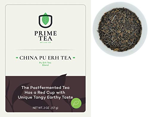 PU ERH TEA - 2 Ounce ≈ 30 Servings - Delicious Vegan All Natural Flavors Assortment of Loose Leaf Tea - Aroma Blast - Hot or Iced - Super Mix -