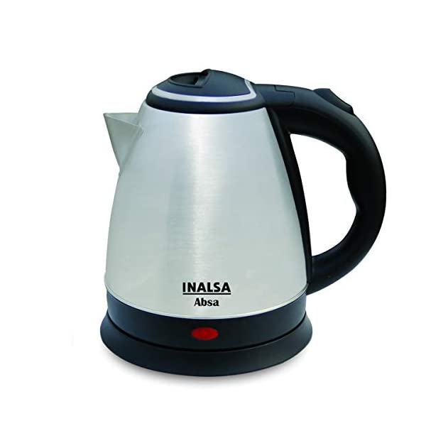 Inalsa Electric Kettle Absa with 1.5 Litre Capacity, (Black/Silver)
