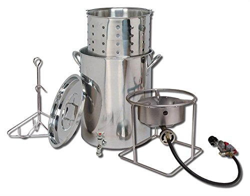 King Kooker  SS1267SBSP  Stainless Steel Cooker, Pot and Basket System by King Kooker