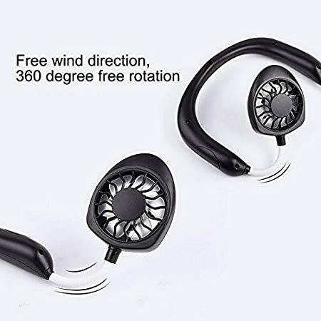 Nicknocks Neckband Fan Hand Free Personal Cooling Fan,Wearable Portable Neckband Mini Fan with USB Rechargeable for Outdoor Traveling Running Hiking Indoor Home Office