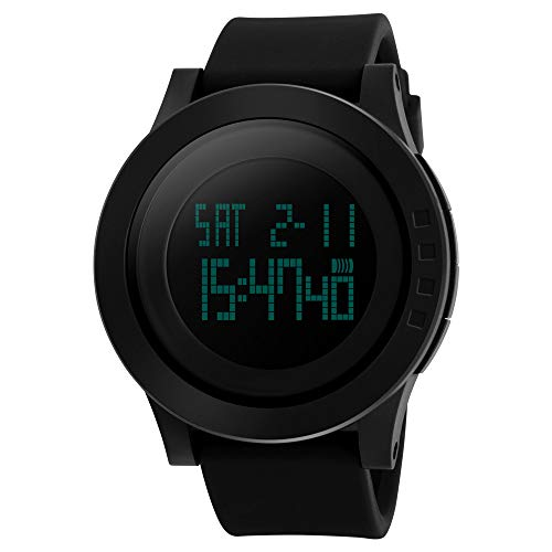 SKMEI Men's Digital Sports Watch LED Screen Large Face Fashion Electronic Waterproof Military Watches Alarm Stopwatch by SKMEI