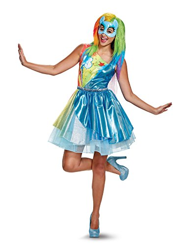 Disguise Women's Plus Size Rainbow Dash Movie Deluxe Adult Costume, Multi, Large