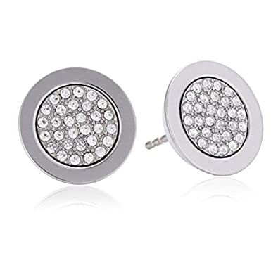 d9bff928167c0f Amazon.com: Michael Kors MKJ2742 Silver Pave Stud Earrings: Jewelry