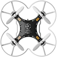 Hiinst 124 Mini Drone 2.4G 4CH 6-Axis Gyro RTF Remote Control Pocket Quadcopter Aircraft Toy for Kids (Black)