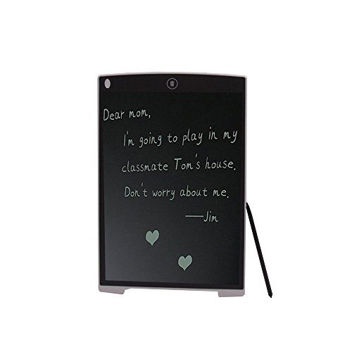 OWIKAR 8.5-Inch LCD Writing Tablets, Electronic Graphic Drawing Board Durable Handwriting Pad with Stylus Digital Rewritten Drawing Board Tablet Gift for Kids School Office Kitchen (White)
