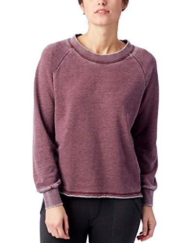 (Alternative Women's Burnout French Terry Lazy Day Pullover Wine)