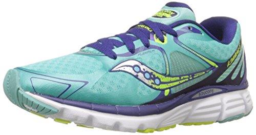 Saucony Women's Kinvara 6 Running Shoe, Blue/Citron, 6.5 M US