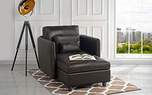 Amazon Com Divano Roma Exp289 Chaise Living Room Leather