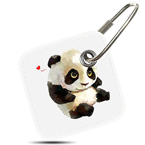 Logity Case for Tile Mate/Tile Mate with Replaceable Battery/Tile Pro/Tile Sport/Tile Style, Tile Mate Accessories, Lether Case for Tile Mate, Anti-Lost Design, Panda.