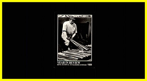 1992 Megacards Babe Ruth #18 Bats .372 With a .737 Slugging Average 1926 New York Yankees