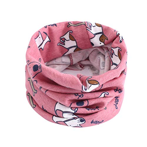 Fheaven (TM) Clearance Toddler Girls Boys Girls Winter Scarf Animal Pattern Stitching O-Ring Scarf Neck Warmer (E)
