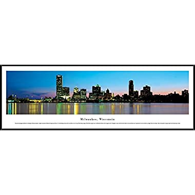 Milwaukee, Wisconsin - Blakeway Panoramas Print with Standard Frame