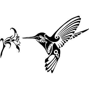 Amazon.com: Tribal Art Hummingbird Vinyl Decal Sticker For