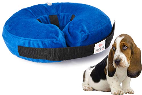 Inflatable Dog Collar, Recovery Cone, After Pet Surgery, Prevent Dogs from Biting & Scratching, Adjustable Thick Strap…