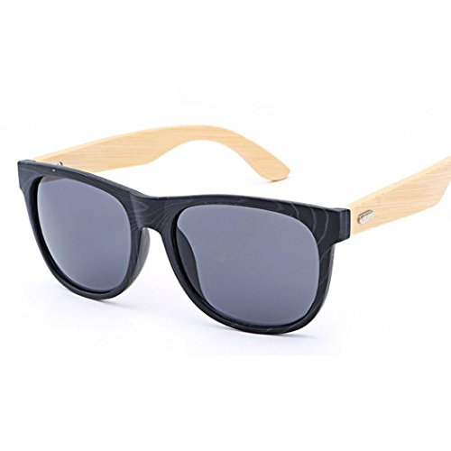 TOOPOOT Clearance Deals Glasses, Unisex Summer Bamboo Travel Glasses Outdoors Retro Sunglasses (B)