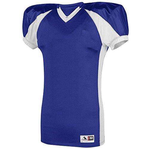 Augusta Sportswear Boys' Snap Jersey S Purple/White (Contrast Side Jersey Football)