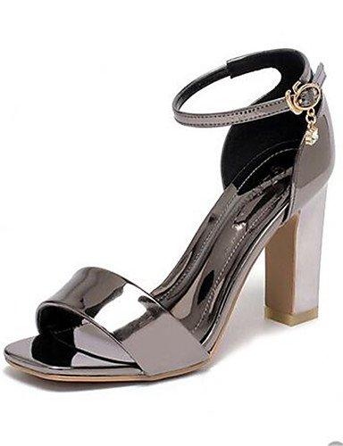 GGX/ Damen-High Heels-Lässig-PU-Blockabsatz-Absätze-Rosa / Lila / Silber pink-us8 / eu39 / uk6 / cn39