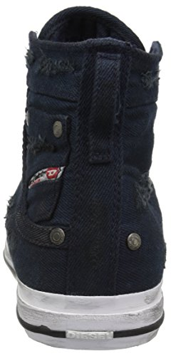 Diesel Women's Sneaker Exposure IV Mid Blue Magnete Nights W rravqdnFxw