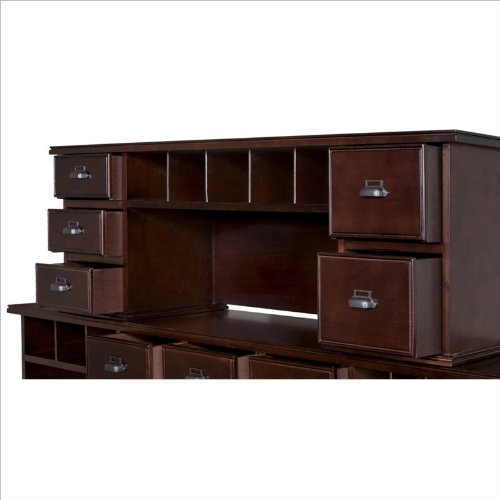 kathy ireland Home by Martin Tribeca Loft Cherry Short Reception Hutch - Fully Assembled by Martin Furniture