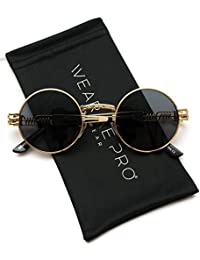 Metal Frame Retro Round Clear Lens Glasses