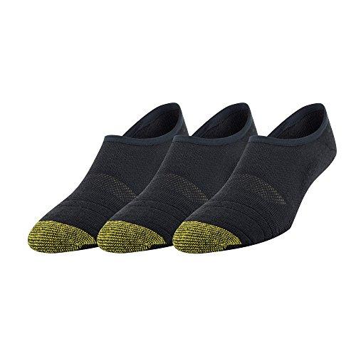 Gold Toe Men's Sta-Cool Tech No-Show Sneaker Socks, 3-Pack, black, Shoe Size: 10.5-13