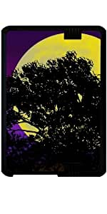 "Funda para Kindle Fire HD 7"" (2012 Version) - Silueta Del árbol Luna"