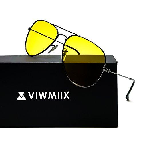 Photochromic Prescription Glasses - HD Night Vision Glasses for Driving Photochromic Polarized Anti-glare 100% UV400 Aviator Sunglasses for Men Women (Gunmetal)