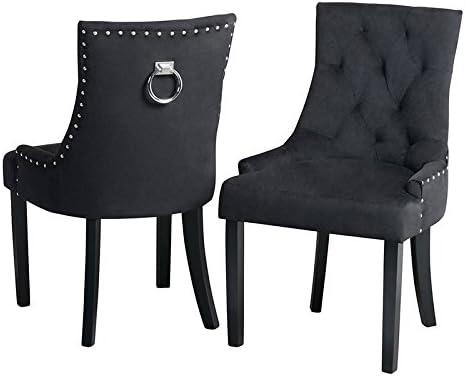 My Furniture Torino Esstischstuhl mit Rückenring Schwarzer