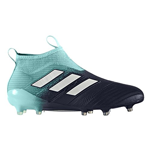 adidas Men's ACE 17+ PURECONTROL FG Soccer Cleats (Energy Aqua) (8.5)