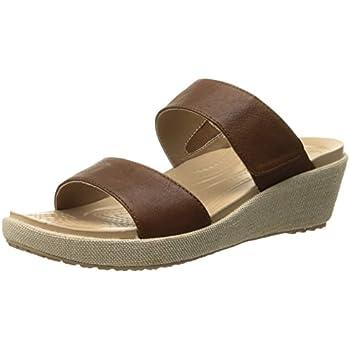9901c7f0b5fe crocs Women s A-Leigh 2 Strap Mini W Wedge Sandal