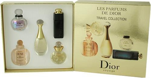 Christian Dior Variety By Christian Dior For Women. Set-5 Piece Mini Variety With Dior Addict & Jadore & Pure Poison & Dolce Vita & (Dior Jadore Gift Set)