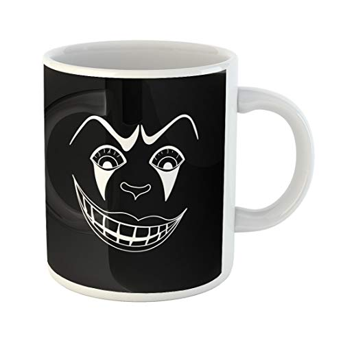 Semtomn Funny Coffee Mug Character White Scary Clown