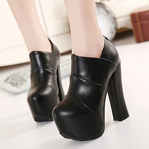 black Schuhe High Stiefel Frauen Heels Stiefel Und KHSKX Stiefeletten Frauen Stiefel Martin TvxpfXP