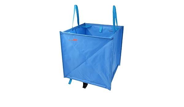 MagiDeal Heavy Duty Nylon Folding Triangle Tree Arborist Tree Surgery Tree Work Storage Cube Bag for Throw Line Throw Weight Bag Retriever Ball Clothing Accessories Blue//Green