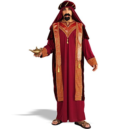 Forum Novelties Men's Adult Sultan Costume, Red/Gold, Standard ()