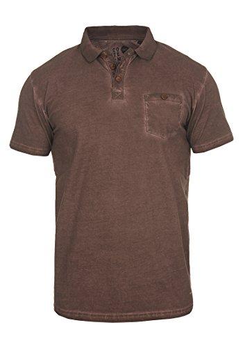 Corta 100 Coffee 5973 Bean De Cuello Para Termann Camiseta Manga solid Con Algodón Polo Hombre xUvqgwXA