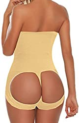 HEROSKY Women's Valencia Shapewear Butt Lifter Waist Cincher Magic Shapewear Slips (US Size M/L, Apricot)