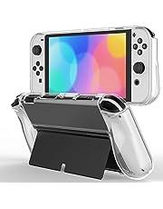 JETech Beschermhoes Compatibel met Nintendo Switch (OLED Model) 7-Inch 2021 Release, Grip Case met Schokabsorptie en Anti-kras Ontwerp, HD Helder