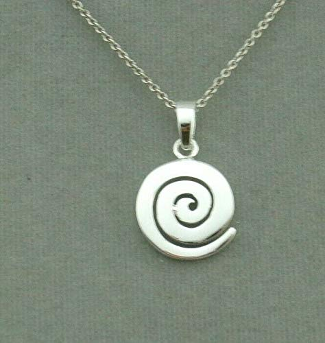 Swirl Pendant Necklace For Women Silver Jewelry NEW