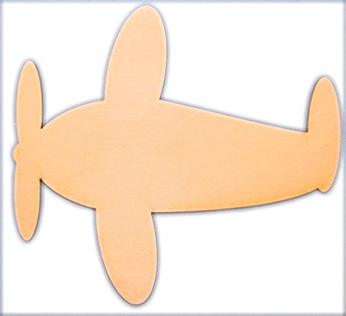 CMAirplane Unpainted Airplane Wood Cutout Size:Small 4